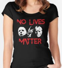 No Lives Matter Women's Fitted Scoop T-Shirt