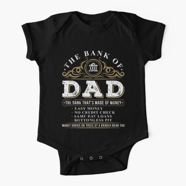 La banque de papa Funny Fathers Day College Tuition Student Body manches courtes