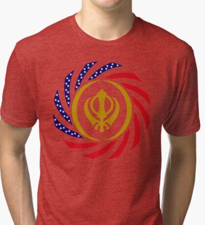 Sikh American Patriot Flag Series Tri-blend T-Shirt