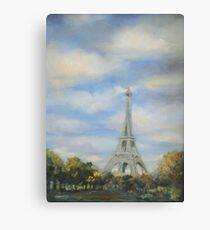 Eifel Tower, oil on canvas Canvas Print