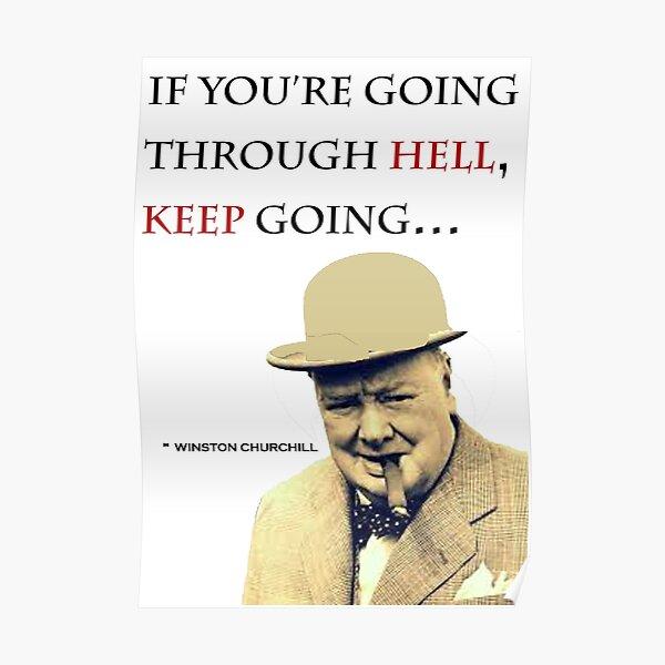 Churchill Quote Poster