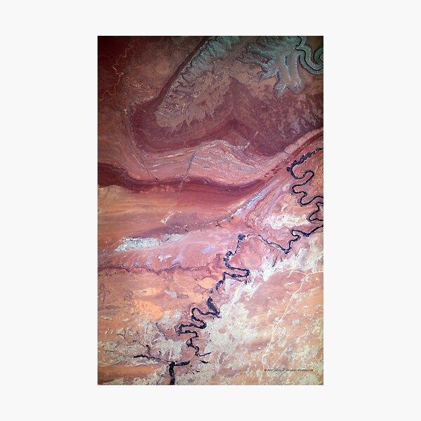 San Juan River and Chinle Creek Utah Satellite Image Photographic Print