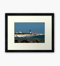 Old New England Lighthouse Framed Print