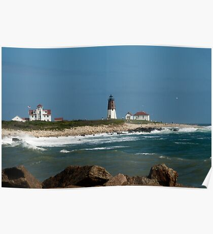 Old New England Lighthouse Poster