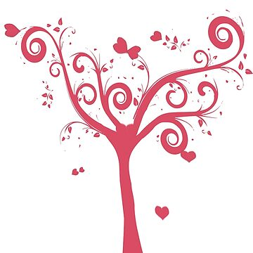 Tree of Love  T-Shirt by Ghelly