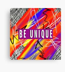 Be Unique  Canvas Print