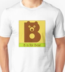 Bear Animal Alphabet Unisex T-Shirt