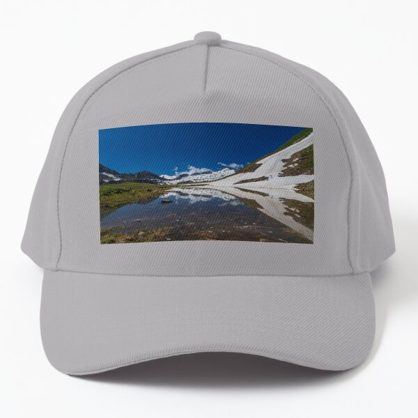 Summer trekking day in the mountains of Val Veny, Courmayeur Baseball Cap
