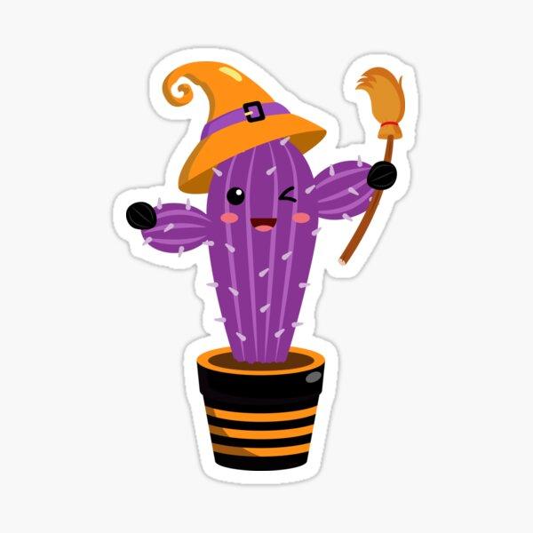 Cute Halloween Spooky Cactus Sticker