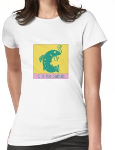 Catfish Animal Alphabet Womens Fitted T-Shirt