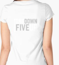 Motorcycle One Down Five Up Gear Shifter Women's Fitted Scoop T-Shirt
