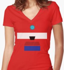 Minimalist Clap-Trap Women's Fitted V-Neck T-Shirt