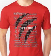 Werewolf in 33 Languages Unisex T-Shirt
