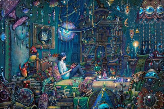 Quot Howl S Room In Moving Castle Quot Canvas Prints By Illustore