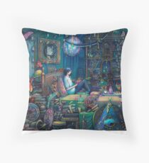 Howl's room in Moving Castle Throw Pillow