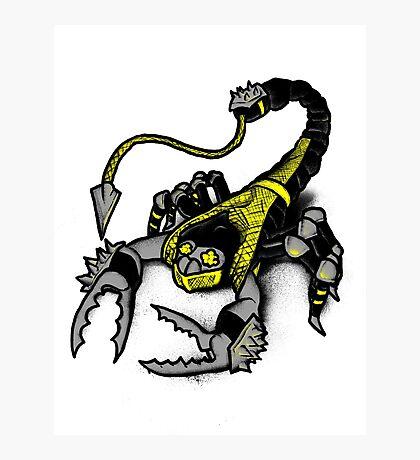 Realer Scorpion Photographic Print