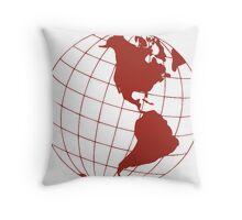Ruby Globe Throw Pillow