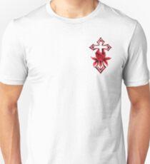 GARDEN CROSS RED Unisex T-Shirt