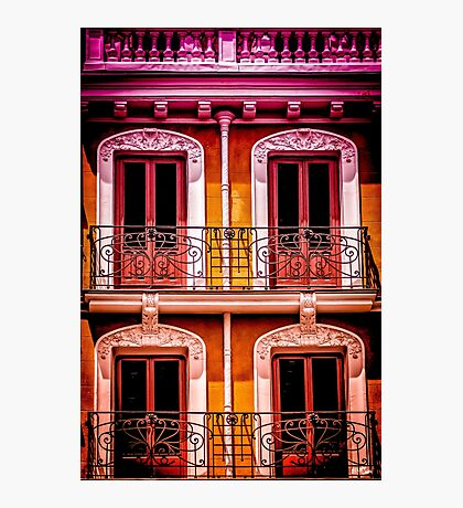 A Facade in Madrid Photographic Print