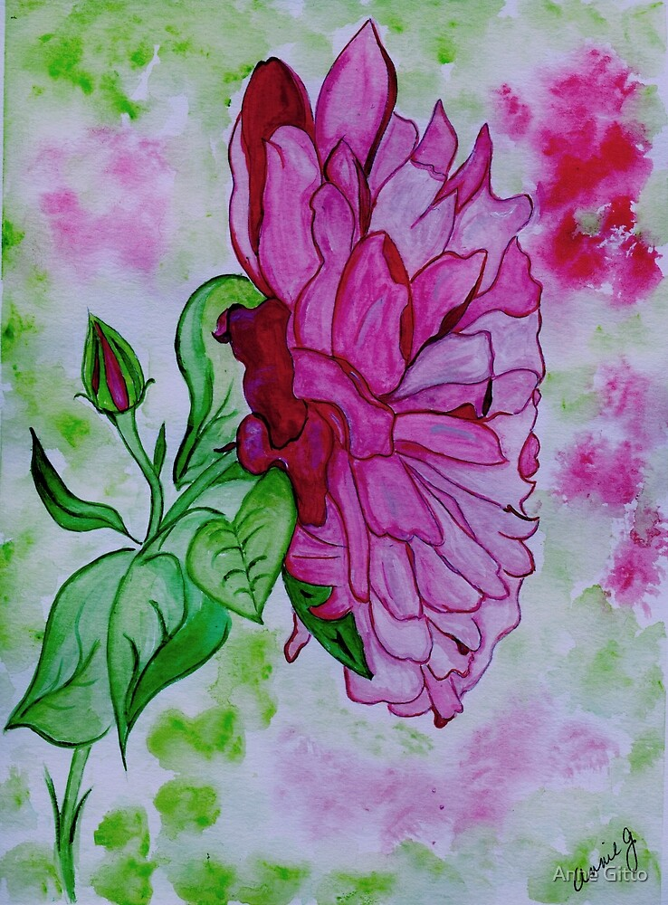 The Pink Rose from My Garden  by Anne Gitto