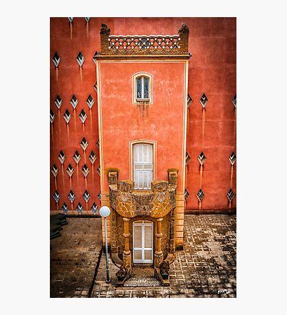 A Facade in Güell Photographic Print