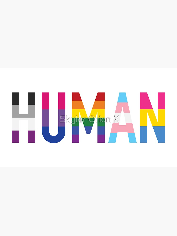 Human, Various Queer Flags 1 by fc13empire