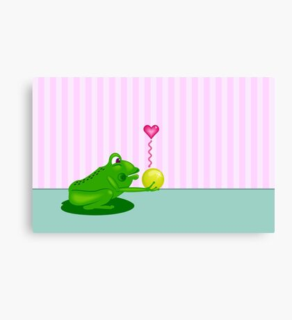 Frog King VRS2 Canvas Print