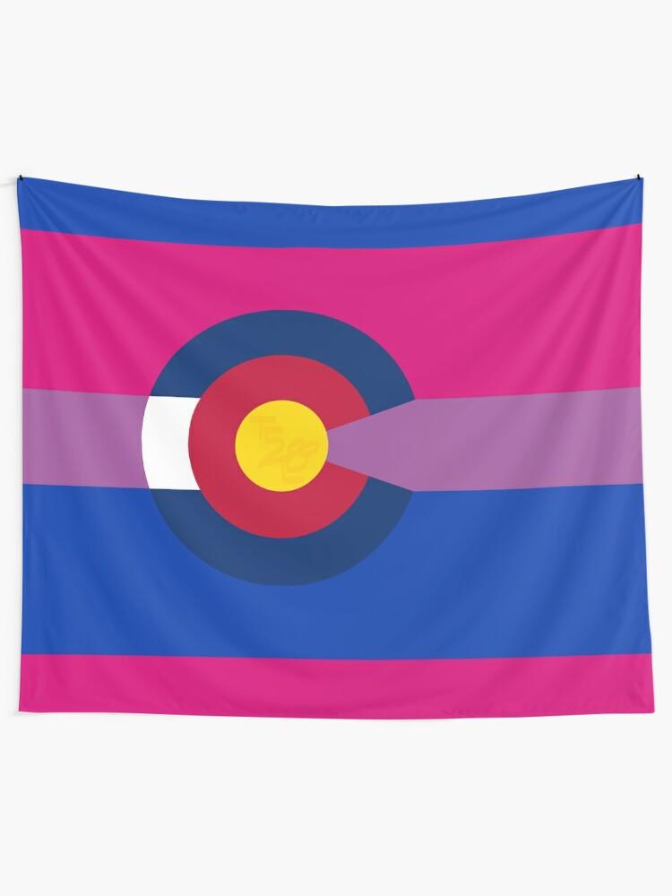 Alternate view of Colorado LGBTQIA2S+ Bi Pride Flag Tapestry