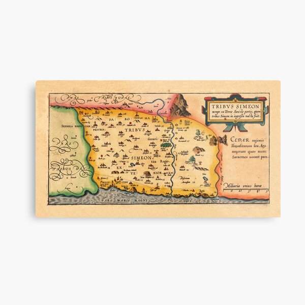 Map Of The Holy Land 1628 Metal Print