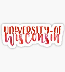 University of Wisconsin - Style 1 Sticker
