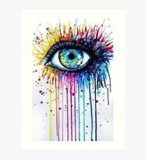 Psychedelic eye Art Print