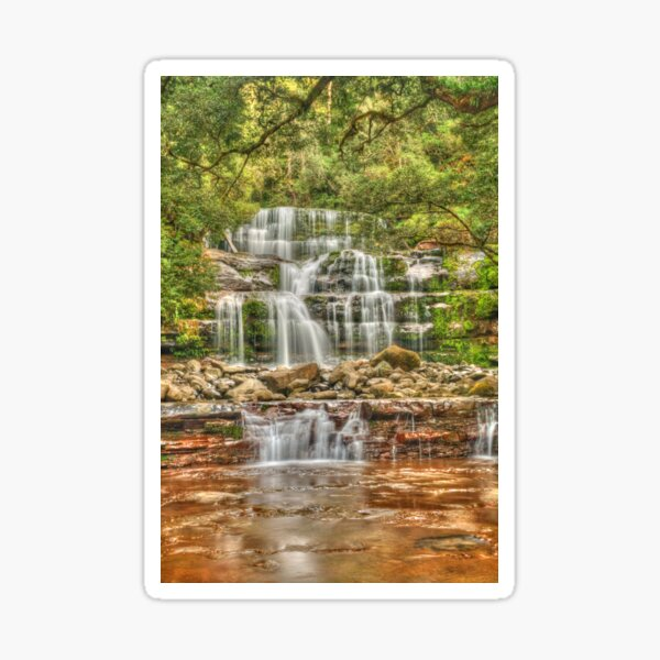 Liffey Falls portrait Sticker