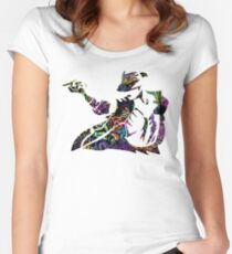 Michael Jackson -  Psychedelic Women's Fitted Scoop T-Shirt