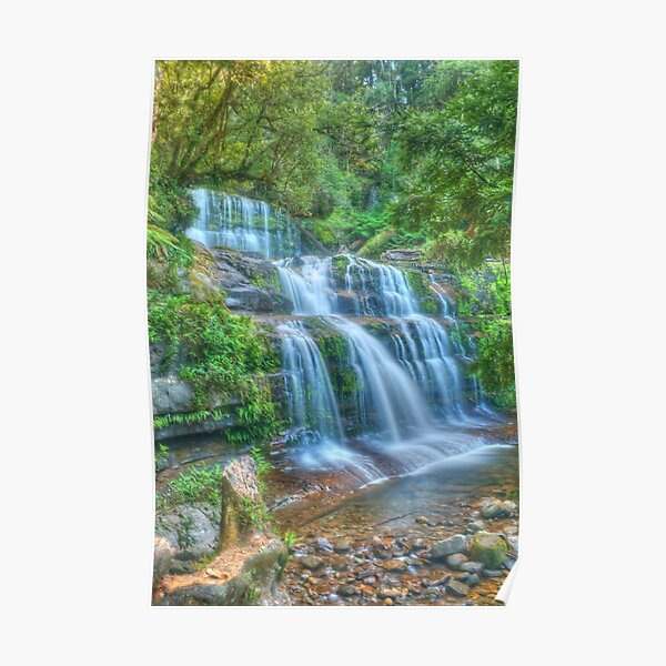 Liffey Falls .. side portrait Poster