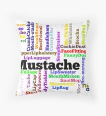 Mustache Throw Pillow