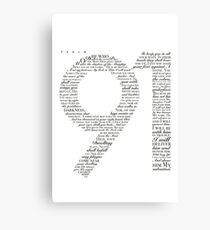 Psalm 91 White Canvas Print