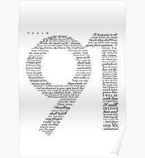 Psalm 91 White Poster