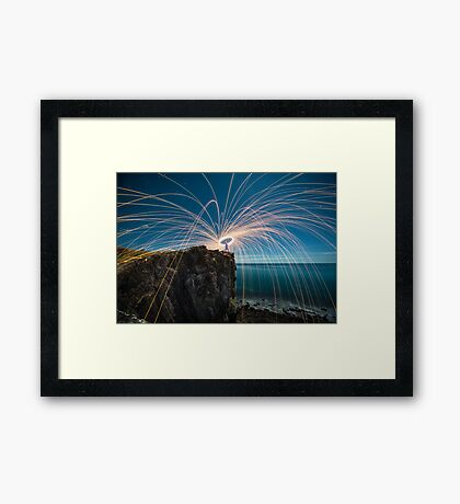 The last spin Framed Print