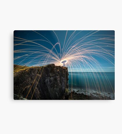 The last spin Metal Print