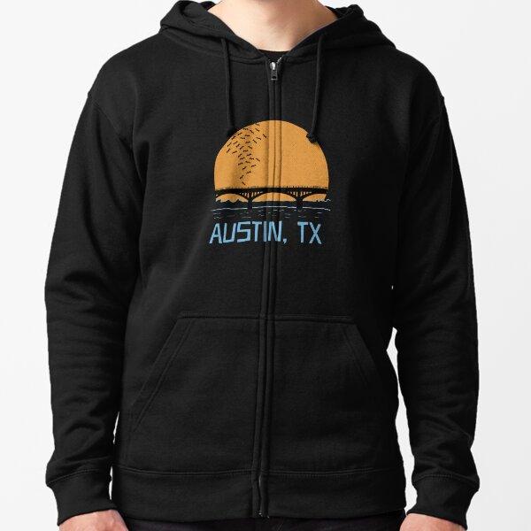 Austin Texas Bat Bridge  Zipped Hoodie