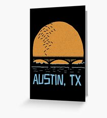 Austin Texas Bat Bridge  Greeting Card