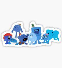 Mr Men and Little Misses - Blue Sticker