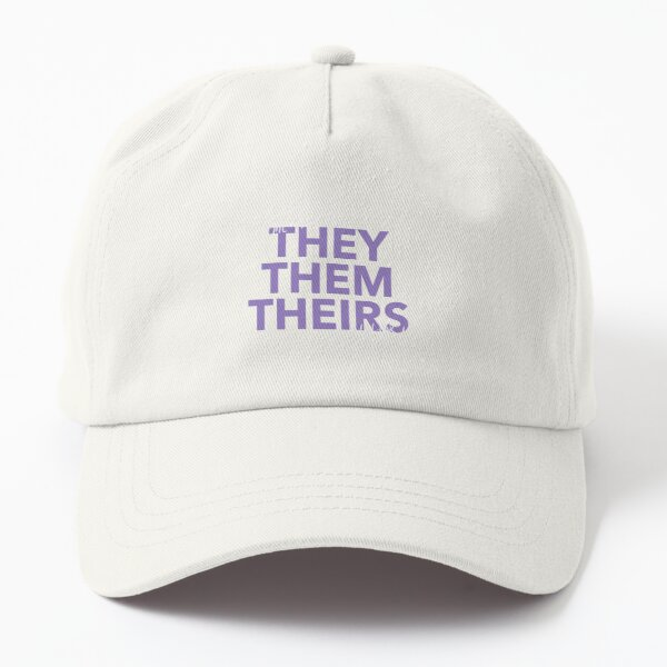they/them, v4 in purple Dad Hat