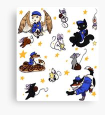 Star cops and Star Thieves Canvas Print