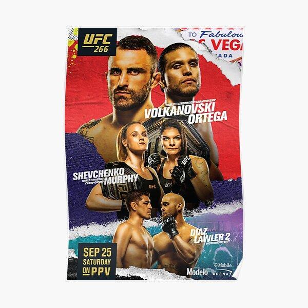 UFC 266 OFFICIAL: Volkanovski Vs Ortega: Diaz Vs Lawler 2 Poster