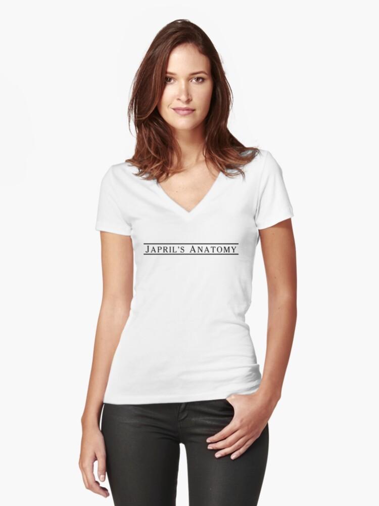 Camisetas de cuello en V entalladas para mujer «Las camisetas ...