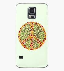 Farbe blind Friedenszeichen Hülle & Klebefolie für Samsung Galaxy