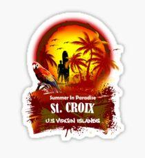 St. Croix U.S. Virgin Islands Beach Time Sticker