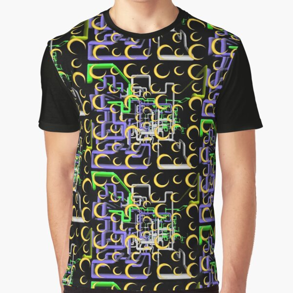 Dan Flashes pattern cool tim robinson #17 yellow,green,white and purple Graphic T-Shirt
