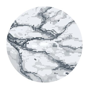 Marble Pixels Circle by lonelytofu